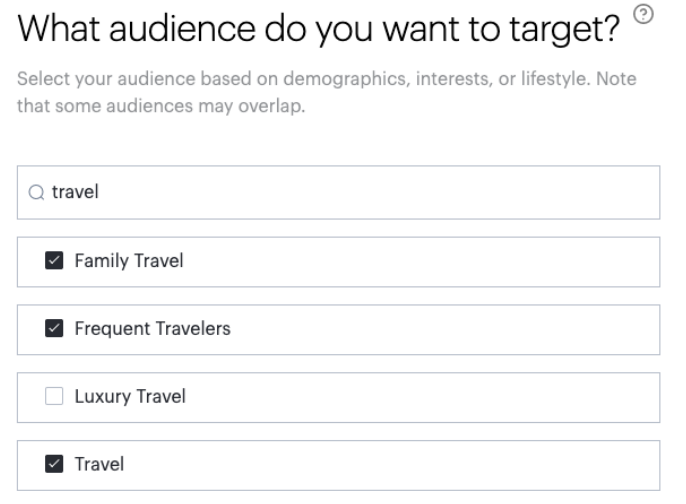 What audience do you want to target?